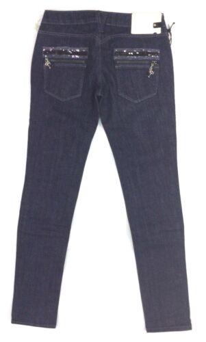 Jade Elasticizzato Blu Jeans Donna Semi V Clink Denim a bassa Aderente Pantaloni 5nRwwUqap