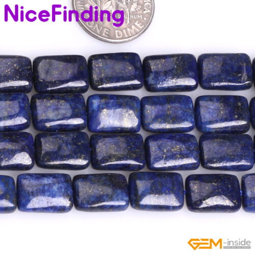 """Rectangle Blue Lapis Lazuli Stone Beads For Jewelry Making Losse Beads 15/"""" NF"""