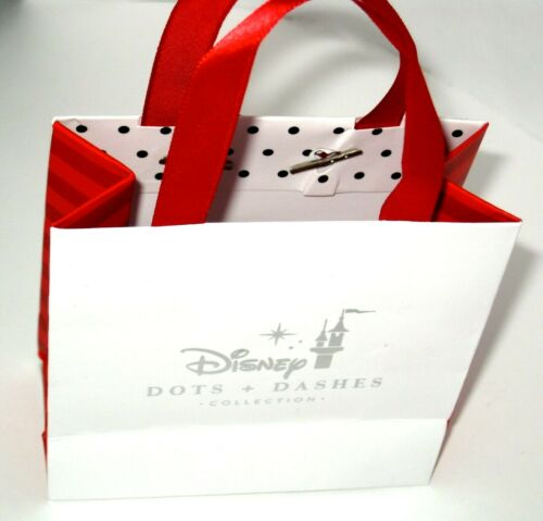 Disney Park Authentic Bracelet✿ Dots /& Dashes Minnie Mouse Hearts Bow Beautiful