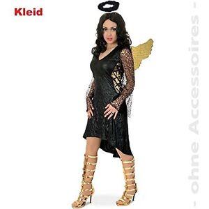 Fasching Karneval Kostum Schwarzer Engel Schwarzes Kleid 36 Neu Ebay