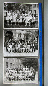 Dresden  Mädchen Buben Schulmädchen Minirock 3 x Klassenfotos um 1970 ORIGINAL