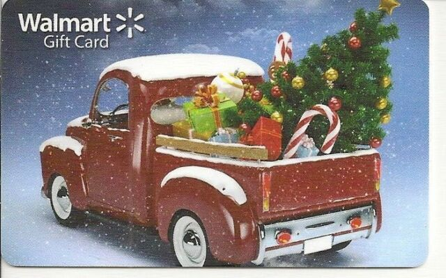 Details About Walmart Vintage Red Pickup Truck Christmas Tree Holiday Fd54289 Gift Card Mint