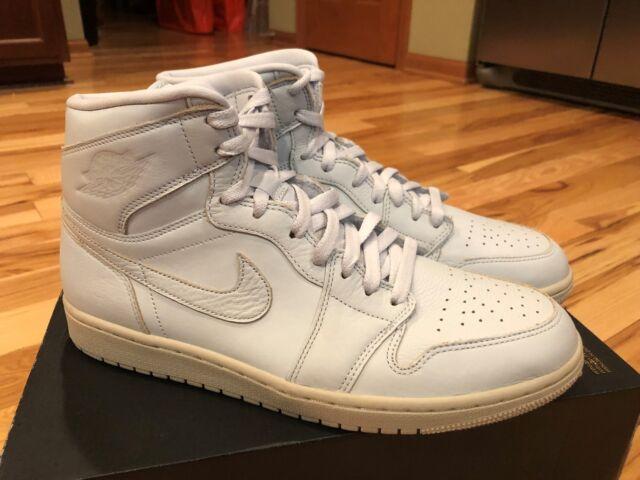 hot sale online abc7c 22392 Nike Air Jordan 1 Retro High PRM Pure Platinum Desert Sand AA3993 030 Size  11