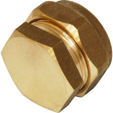 42mm Compression Stop End Brass - Copper Pipe Fittings Water Gas LPG Oil