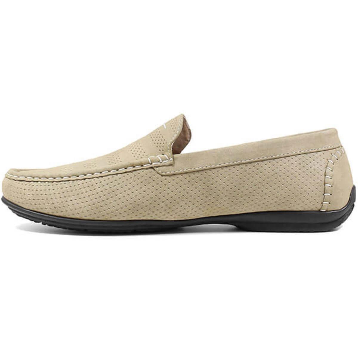Stacy Adams Men's Shoes Cirrus Stone, Moc Toe Slip On, 8.5M (25359-275-085M)
