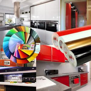 Details zu (5,47€/m²) 5m Klebefolie selbstklebend Küchen und Möbelfolie  Matt Glanz Folie