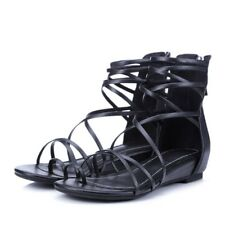 b07bde8647ab1 item 4 Women s Flat Ankle Tie Back Zip Lace Up Open Toe Strappy Roman  Gladiator Sandals -Women s Flat Ankle Tie Back Zip Lace Up Open Toe Strappy  Roman ...