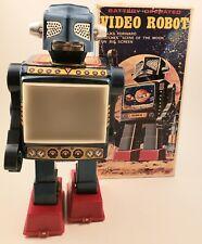 Vintage Horikawa Japan Video Robot Battery Op., Tin Toy Space Scout w/ Org. Box