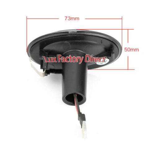 DYNAMIC LED CLEAR Audi Style Sweep Side Indicator Repeater Marker LUXFACTORY