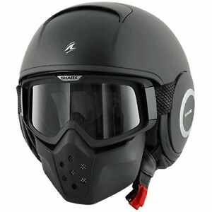 CASCO-SHARK-RAW-NEGRO-MATE-TALLA-M