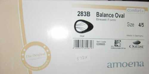 Amoena 283B Balance Oval Breast Prosthesis Form  New in box  various sizes