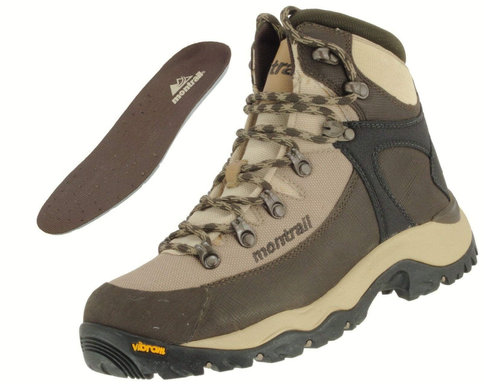MONTRAIL SAMPLE WOMEN'S FEATHER PEAK CORDURA BACKPACKING TRAIL HIKING BOOT US 7