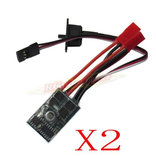 2x RC ESC 10A Brushed Motor Speed Controller for RC Car Boat Tank without Brake