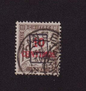 MAROC-N-19-PP-10-CENTIMOS-SUR-10-C-DUVAL-OBLITERE-PORT-PAYE