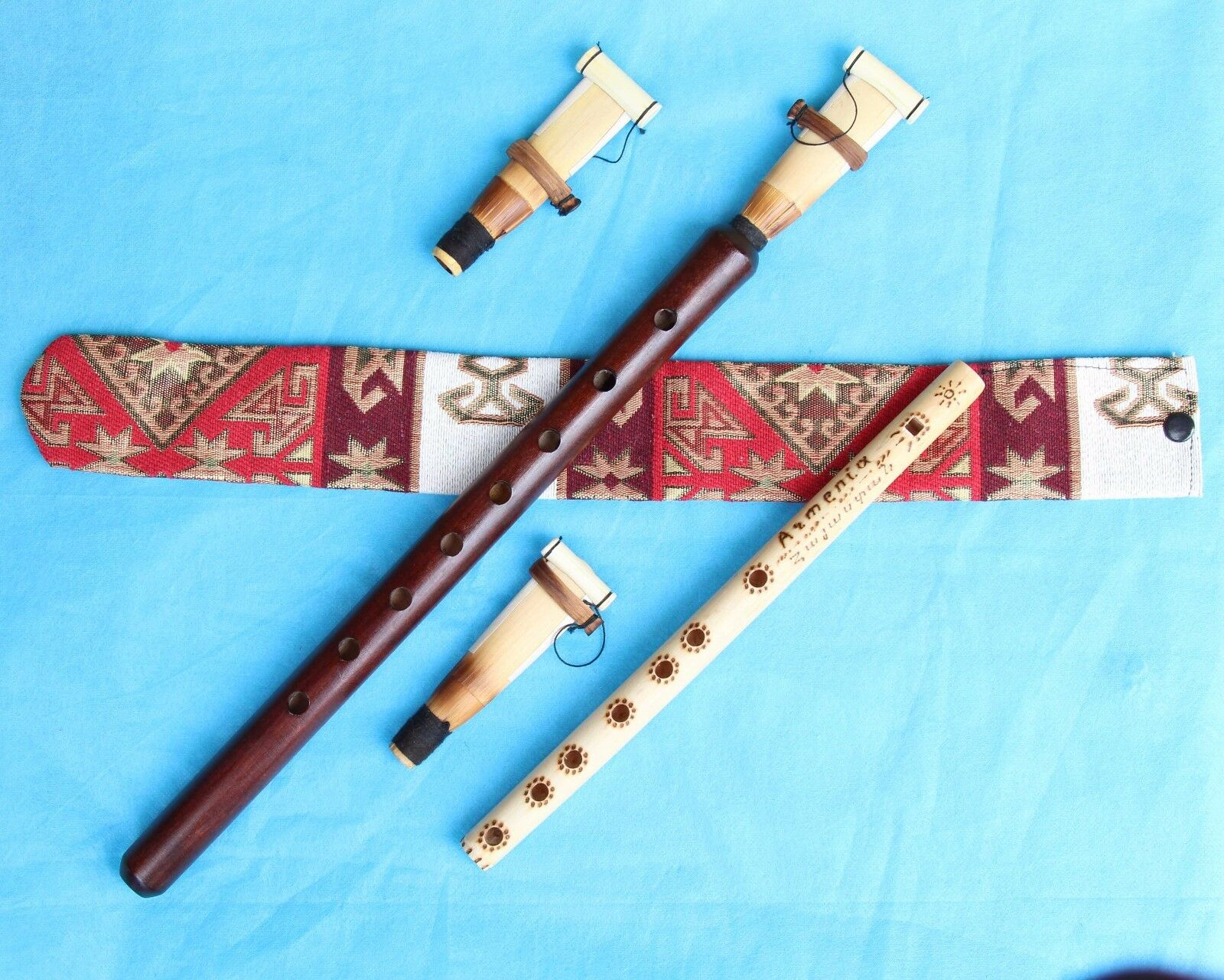 3 reed +DUDUK +CASE+instruction FROM ARMENIA Hand made APRICOT WOOD High quality
