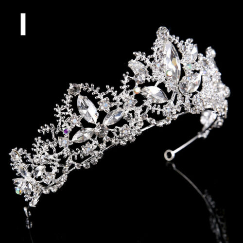 Luxury Women Wedding Bridal Pearl Crown Hair Band Diana Princess Headdress Tiara