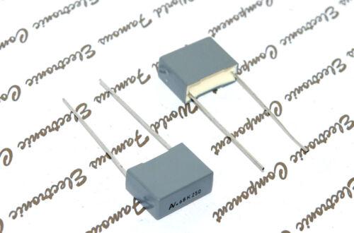680nF 250V 10/% pich:15mm Capacitor 10pcs-ARCOTRONICS R60 0.68uF