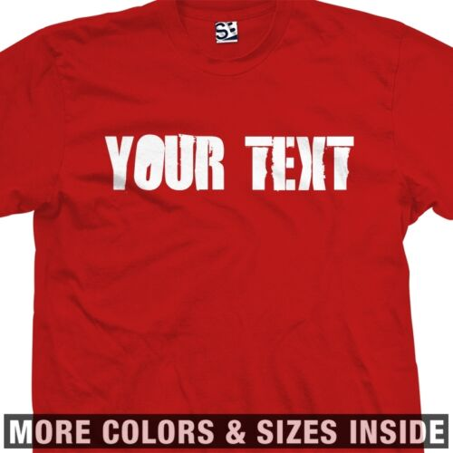 Custom Distressed Block Stencil T-Shirt All Size Colors