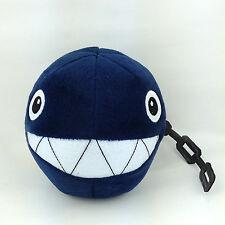 "Chain Chomp Super Mario Bros Golf Enemy Plush Soft Toy Stuffed Animal Black 5.5"""