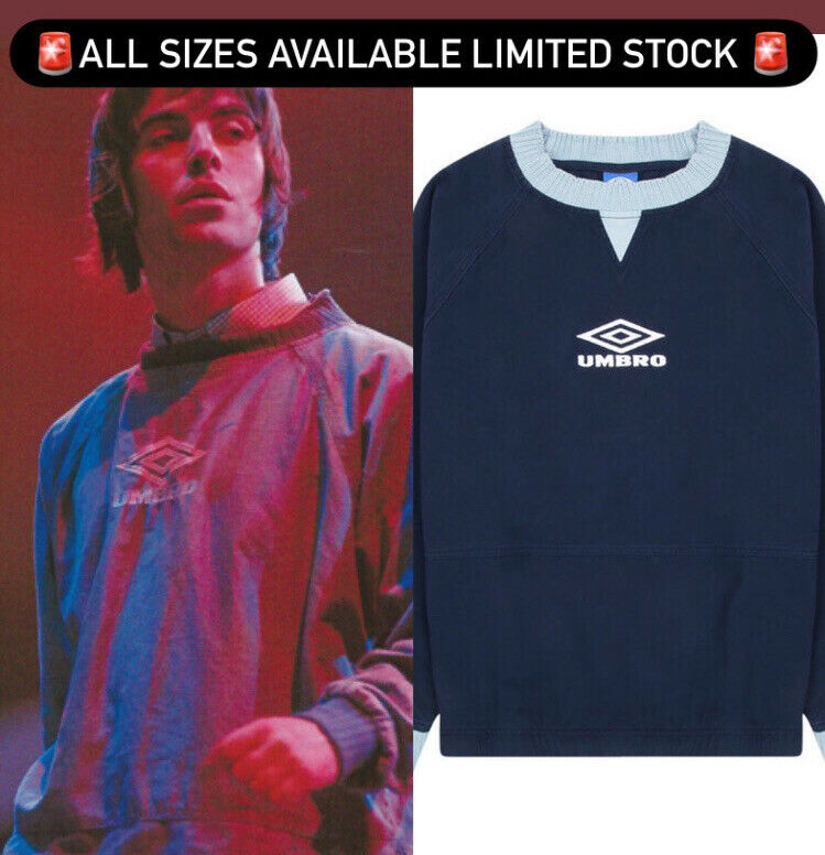 Rare Liam Gallagher Umbro Drill Top Navy Blue ALL SIZES AVAILABLE