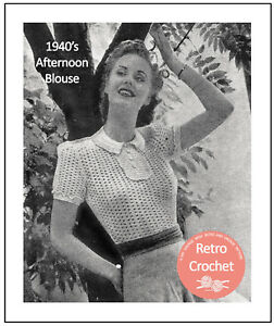 Vintage 1940/'s Cable Blouse Knitting Pattern Copy