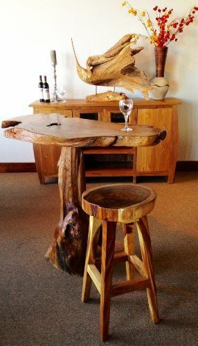 Live Edge Suar Bar Table 98 Inch Made