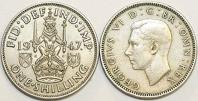 1947 to 1951 George VI Cupro-Nickel Scottish Shilling Your Choice of Date