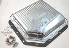 Chevy Chrome TH-350 TH350 Turbo 350 Transmission Trans Pan W/ Gasket & Bolts
