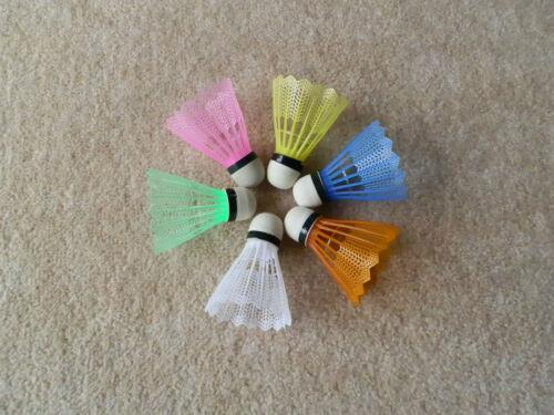 Weitere Ballsportarten 6 farbige Federbälle Badminton Federball Badmintonbälle Ball Bälle TOP Preis Bälle