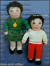 Vintage Knitting Pattern Copy • BOY & GIRL DOLL with CLOTHES • SOFT TOYS • DK