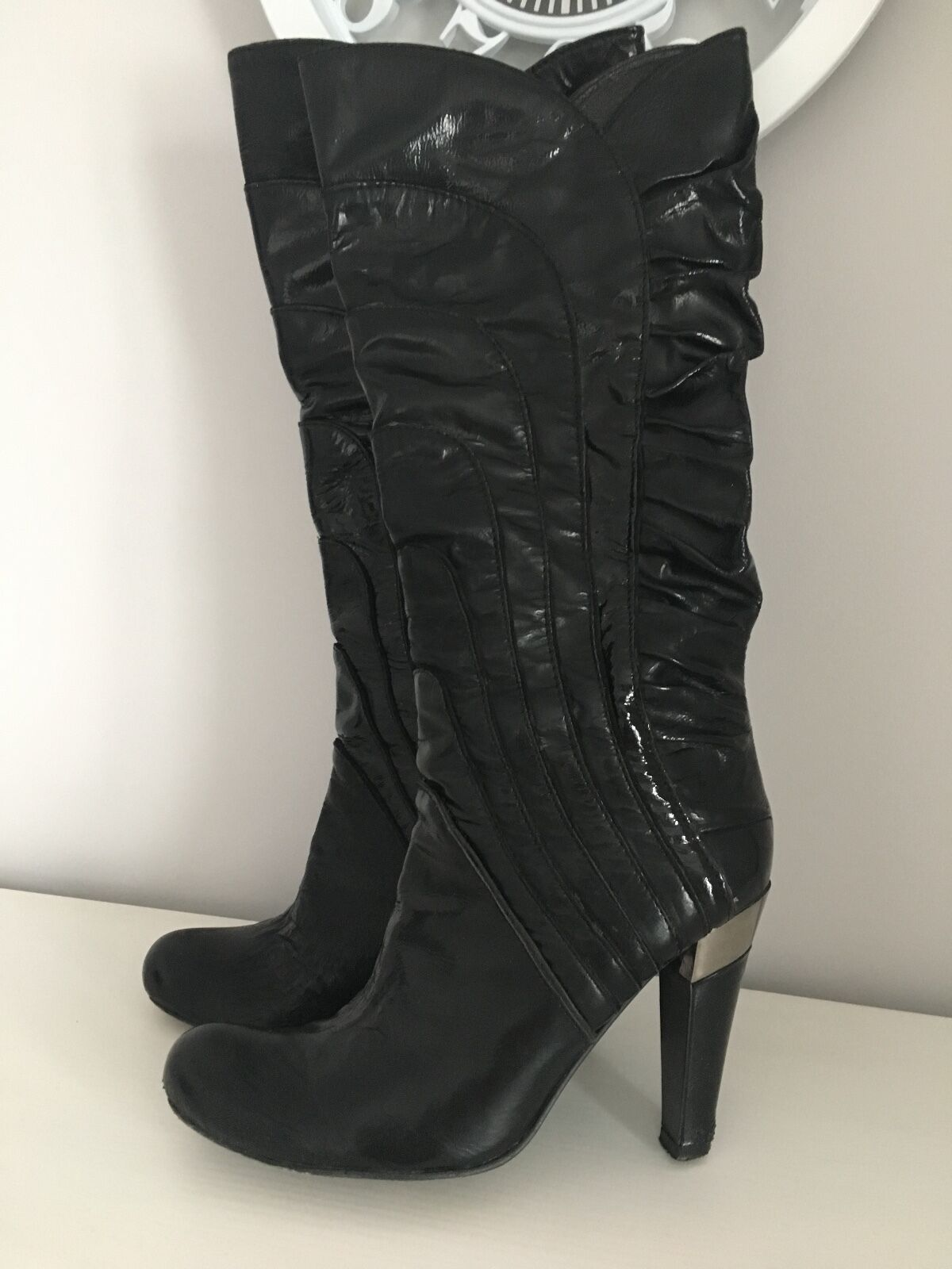 ALDO  38 GOOD CONDITION LEATHER BOOTS 250