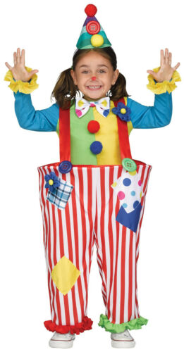 Toddler Crazy Colorful Clown Circus Costume