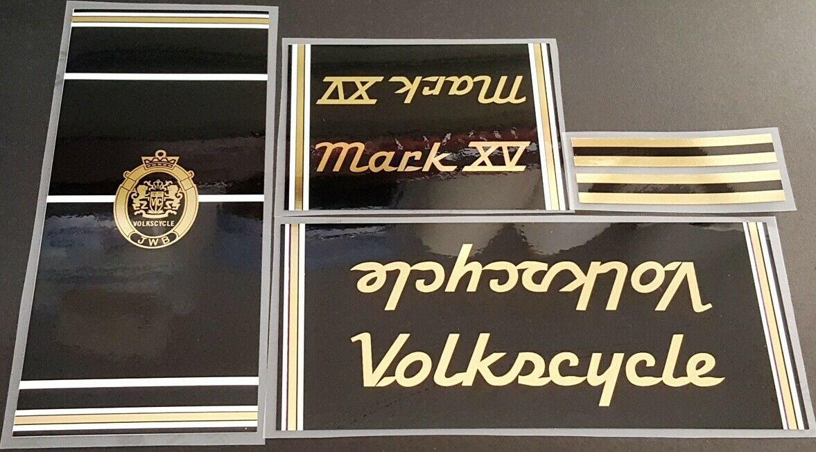 Volkscycle 1980s Mark XV Bicycle Decal Set (sku Volk-S101)