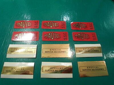 "Mint originals from importer. 4 decals in set MAVIC /""SSC/"" rim decals//stickers"