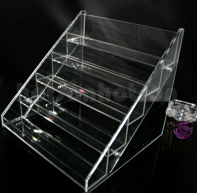 6 TIER NAIL POLISH VARNISH ACRYLIC DISPLAY STAND HOLDS APPROX 20/30/60 BOTTLES