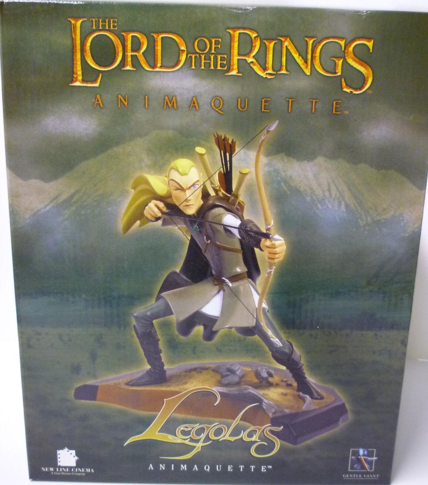 Lord of the Rings Legolas & Gimli 2 Animaquette Statues set Orlando Bloom .