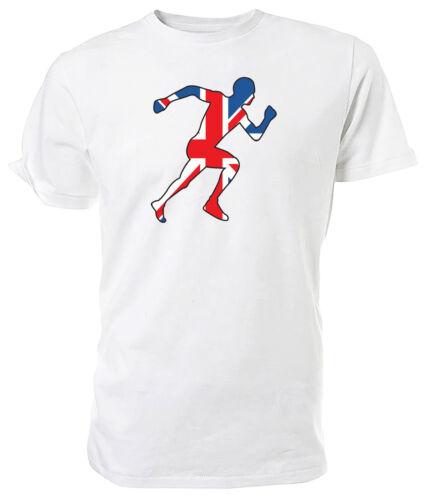 Choice of size /& colours. Union Jack Athlete T shirt Best of British Sport