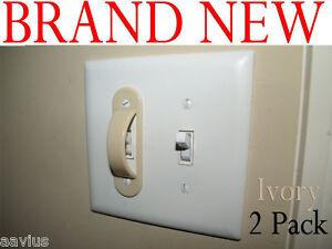 Light Switch Guard Lock Cover Kids Children 2pk Ivory Ebay