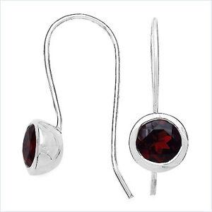 Echte-Granat-Ohrringe-Ohrhaken-Silber-Rhodiniert-3-20-Karat