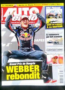 AgréAble Auto Hebdo Du 4/8/2010; Gp De Hongrie; Webber Rebondit/ Interview Massa