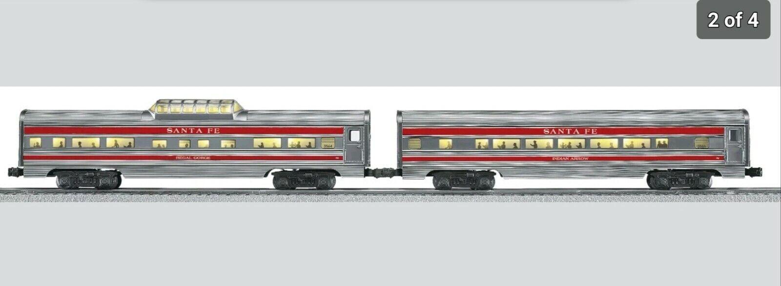 Lionel 6-25446 Santa Fe  super jefe  aluminio optimizado Pasajero Coche 2-Pack