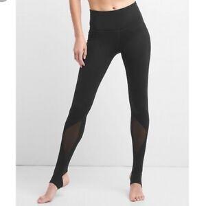 6433955dad NEW Gap GapFit GFast Womens Stirrup High Rise Mesh Leggings Pants ...