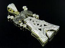 "10K Yellow Gold Oil Rig Genuine Diamond Fashion Pendant Charm 1Ct 1.5"""