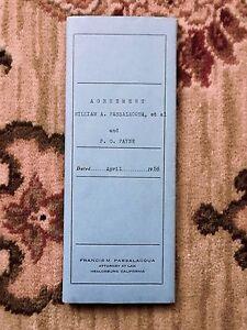 1956 BODEGA BAY - TIMBER LEASE AGREEMENT Original Signed Detailed Document