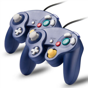 2x-Purple-Wired-Controller-for-Nintendo-GameCube-Console-CLASSIC-JOYPAD