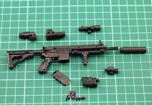 1pc Assembled 1:6 Figure Accessory 4D Black HK416 Assault Rifle Gun Weapon Model