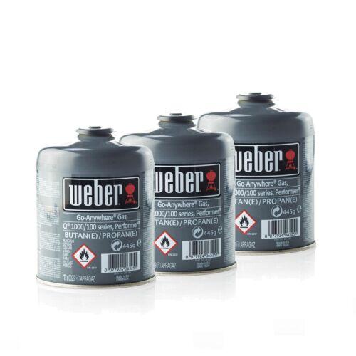 17669, 26100 3er Pack Weber gas-Cartuccia per gas barbecue a gas