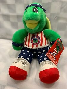 "Vintage SPEEDY SMITH Turtle Plush 1994 Olympic Festival 16"" Toy St Louis NEW"