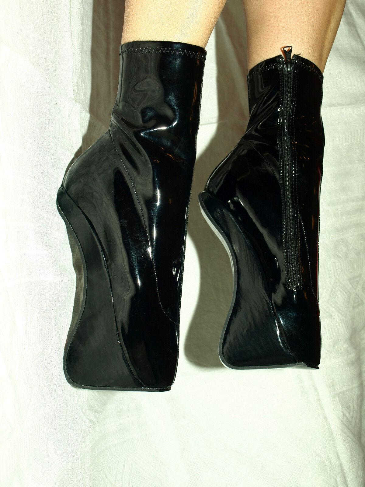 HANDMADE NOVELTY BLACK BALLET LATEX 100% PONY SIZE 6-16   POLAND