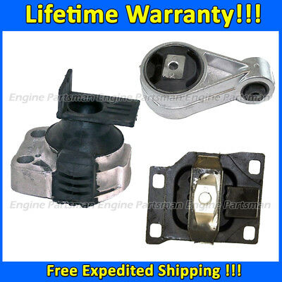 3 PCS MOTOR /& TRANS MOUNT FIT 2005-2007 Ford Focus 2.0L DOHC MANUAL TRANS